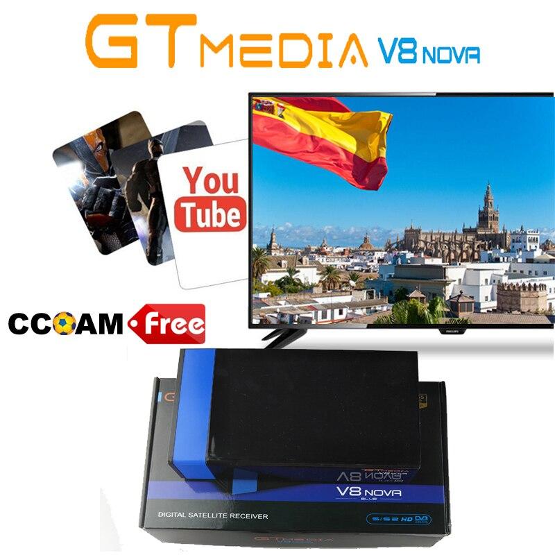 FTA Gtmedia V8 nova DVB-S2 Встроенный Wi-Fi Спутниковый ТВ приемник Freesat V8 приемник один год Европа Клайн H.265 gt media v8 nova