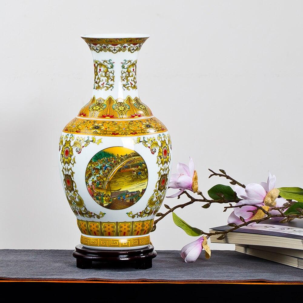 Nový čínský styl klasická porcelánová květinová váza domácí dekorace Jingdezhen vysoce kvalitní ručně vyráběné vysoce bílé hliněné keramické vázy