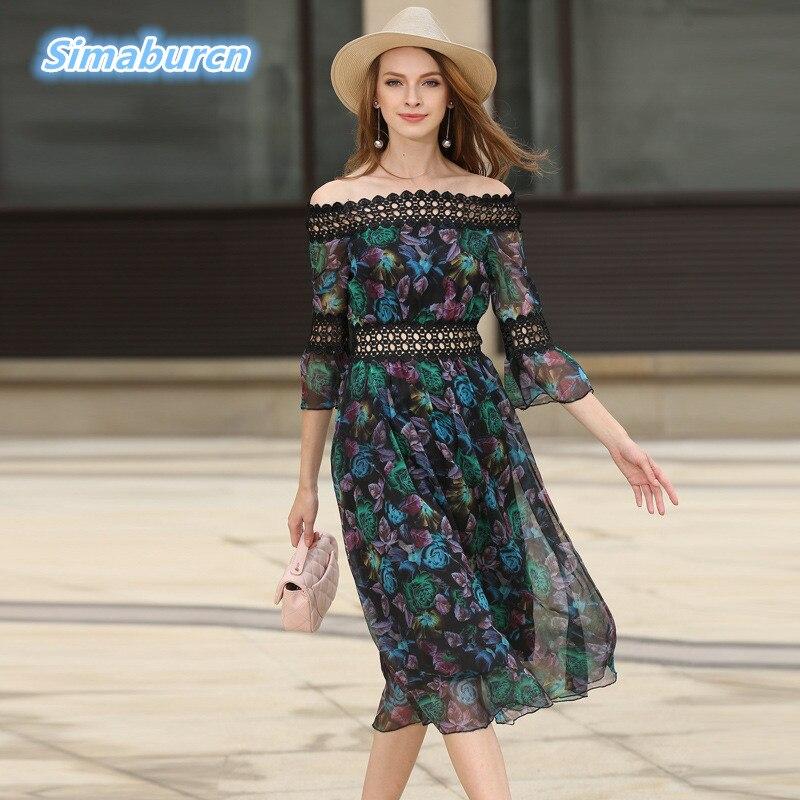 Mujeres elegante dress mujeres costura ahueca hacia fuera de la gasa de la media