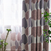 Curtains Tulle For Living Room Dining Bedroom Modern Exquisite Products Simple Imitation Hemp Coating Shade Printing