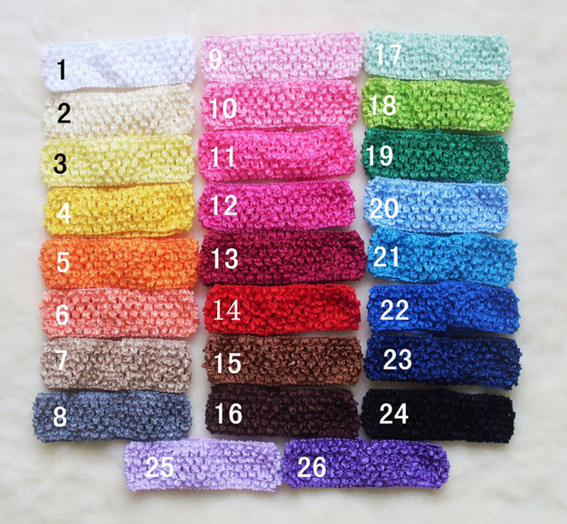wholesale 24pcs lot crochet headbands waffle headband for baby toddler  girls hair bows baby hair accessory 75078973e80