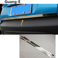 car Stick Styling stainless steel rear back door tailgate frame plate trim lamp hoods 1pcs For Renault Captur 2015 2016 2017