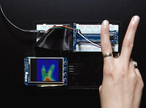 Infrared Array Thermal Imaging of Adafruit AMG8833 IR Thermal Camera 8x8 Thermal Camera