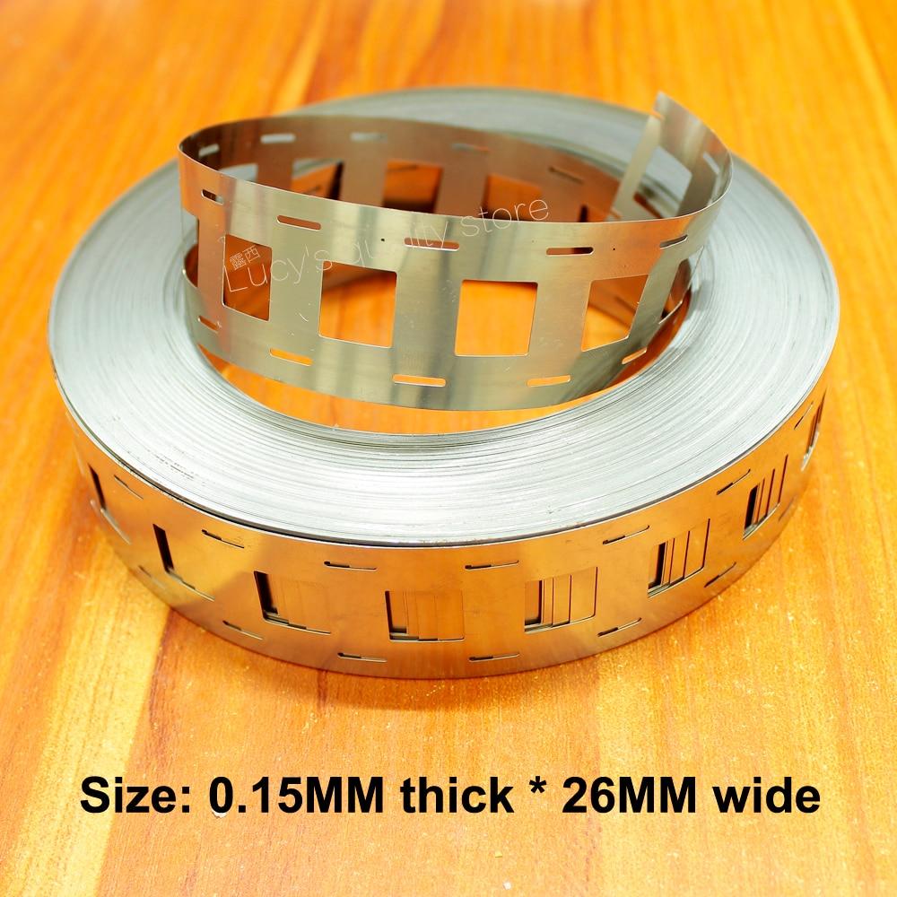 1kg 18650 nickel-plated steel power lithium battery bracket special spot welding nickel sheet 0.15 thickness * 26 wide