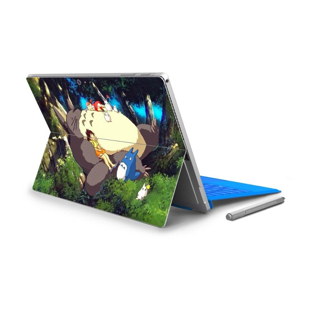 חמה למכירה ויניל 4 חזרה מלא פרו משטח מיקרו מדבקות מדבקת הקריקטורה Ultrabook Tablet Netbook ציור לוגו עור לחתוך החוצה