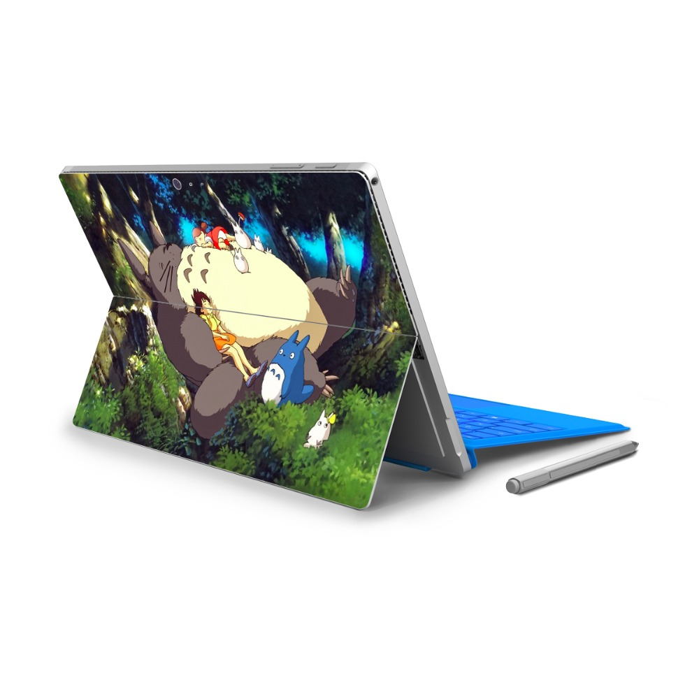 YCSTICKER-Yeni Mikro Yüzey Pro 4 5 Için Vinil Geri Tam Çıkartması Tablet Netbook Ultrabook Sticker Karikatür Boyama Cilt Logosu Kesim