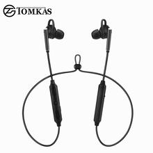 TOMKAS ANC Sport Bluetooth Earphone Wireless Headphones Active Noise Cancelling Music Earbud HiFi Earphone For Phone With Mic