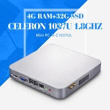 Самый дешевый рабочего встраиваемый компьютер C1037U 4 г оперативной памяти 32 г ssd + wifi хозяин стол — компьютеры выиграть 7 XP систему тонкий клиент
