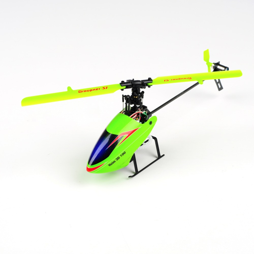 Graupner rc helicopter upgraded version helicoptero 6 CH Remote Control Plane Flybarless helicopter HEIM 100 3D Micro Heli xinlin shiye x123 3 5 ch r c infrared control helicopter black yellow