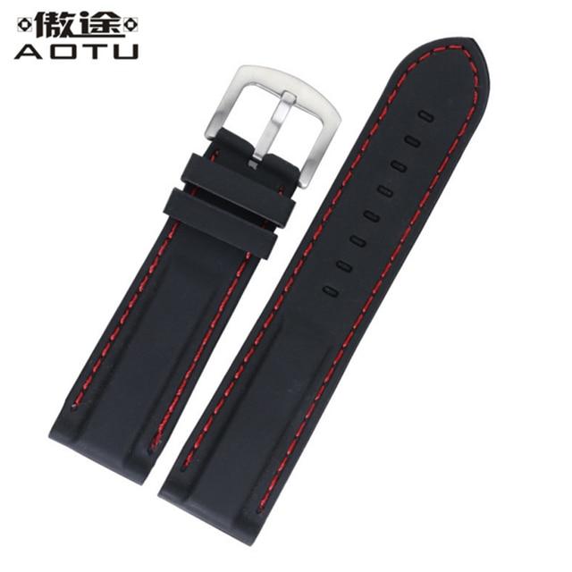 Rubber Watchbands For Diesel/Rolex/Breitling Men Sport Watch Straps Waterproof Women Watch Band Top Quality Rubber Watch Belt