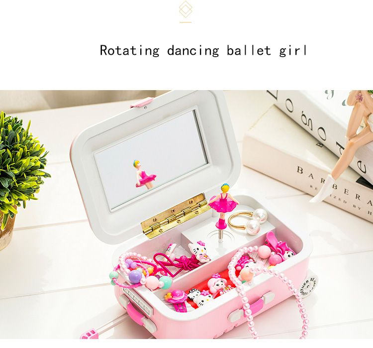 Rotating Music Box Decoration Dancing Ballet Girl