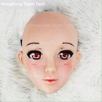Японии аниме девочка мультфильм анимация персонажей человеческое лицо Косплэй маска прекрасный маски силиконовые изображения 3D милые пер