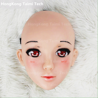 Japan Anime Girl Cartoon Animation Characters Human Face Cosplay Mask Lovely Masks Silicone image 3D cute cartoon characters
