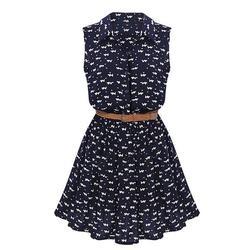 Tfgs 2017 new design design summer new women shirts dress cat footprints pattern show thin shirt.jpg 250x250