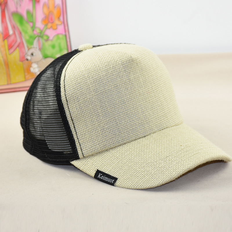 Big Head Man Plus Size   Baseball     Cap   Men Summer Mesh Sun Hat Women Cool Linen Snapback Hats 58-64cm
