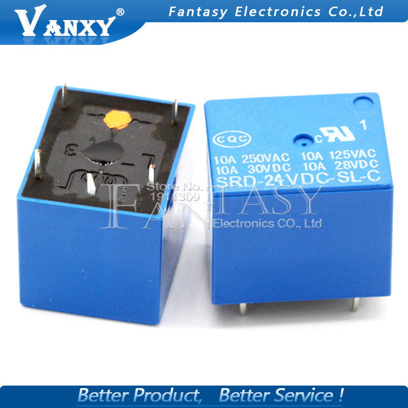 Active Components Delicious 5pcs Relay Srd-03 05 09 06 24 12vdc-sl-c 5pins 3v 5v 9v 6v 24v 12v High-quality