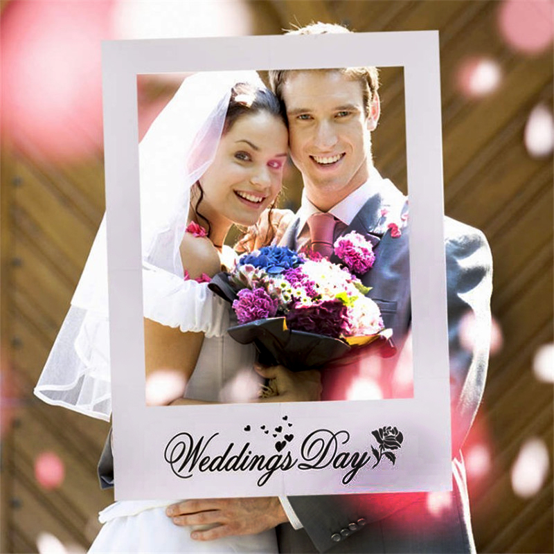 Wedding Day Party Photo Booth Frame Team Bride Miss To Mrs