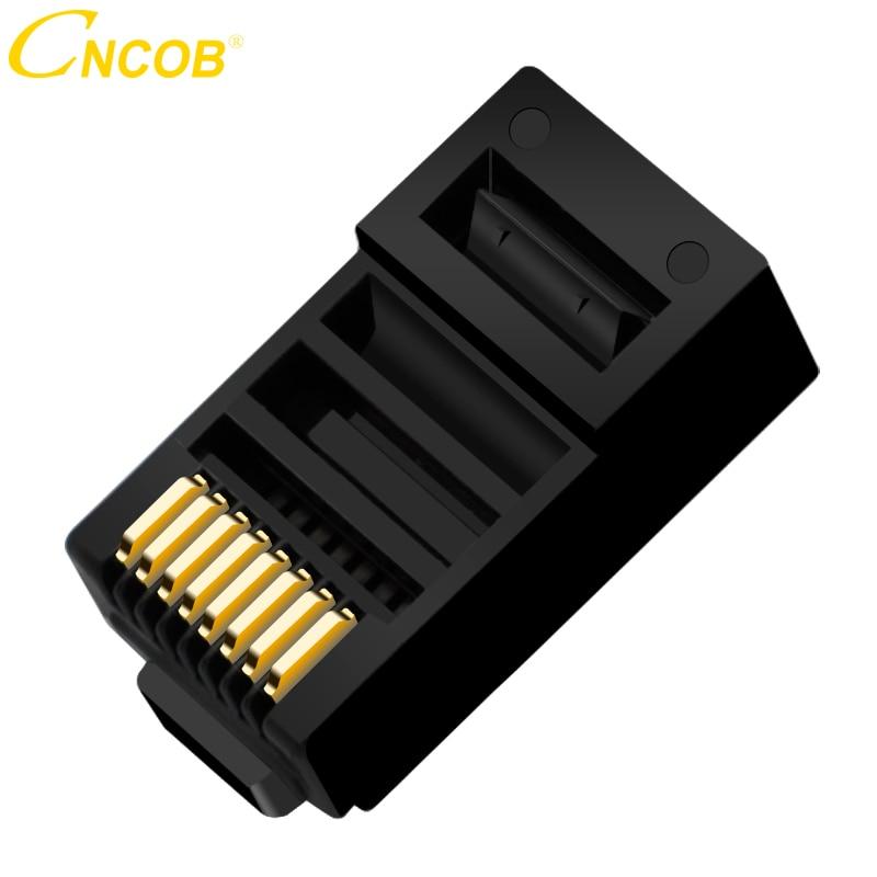 Cncob Cat5E 8P8C Modular conector de Cable Ethernet de macho de crimpado conector RJ 45 de red negro 30 unids