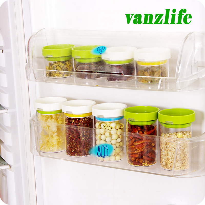 buy 8pcs a lot vanzlife kitchen storage container rotating plastic candy tank creative dry cereals storage bottles grain storage jar from - Kitchen Storage Containers