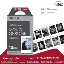 Fujifilm Instax מיני סרט מונוכרום 10 גיליונות עבור Instax מיני 9 8 7 s 70 90 25 מיידי Polariod המצלמה smartphone מדפסת SP 2 1