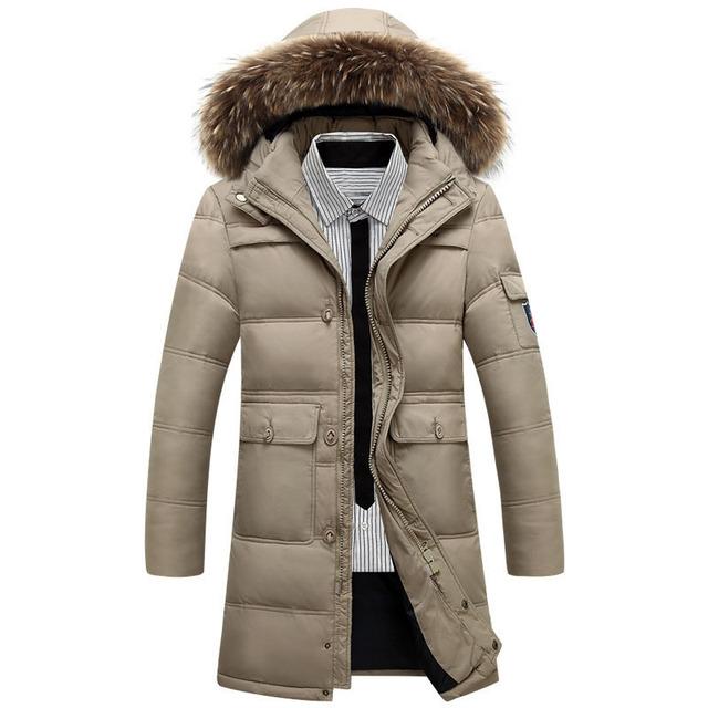 XXXXXL Longo Para Baixo Parkas Para homens Inverno 2016 Clássico Simples Equipada hombre homem Encapuzado Blusão sobretudo Manter casaco quente casaco outwear