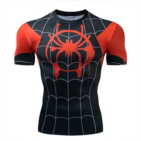 Мстители эндгейм футболка Квантовая царство компрессионная с коротким рукавом для мужчин тренажерный зал Спорт Фитнес окрашенные футболки спортивная одежда для мужчин - Цвет: DX-042