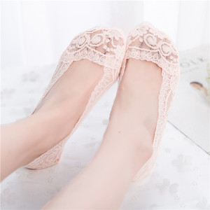 Image 3 - 3Pair Sexy Lace Socks Short Socks Women Summer Thin No Show Women Sock Slippers Casual Thin 3D Art Boat Socks Invisible Meias