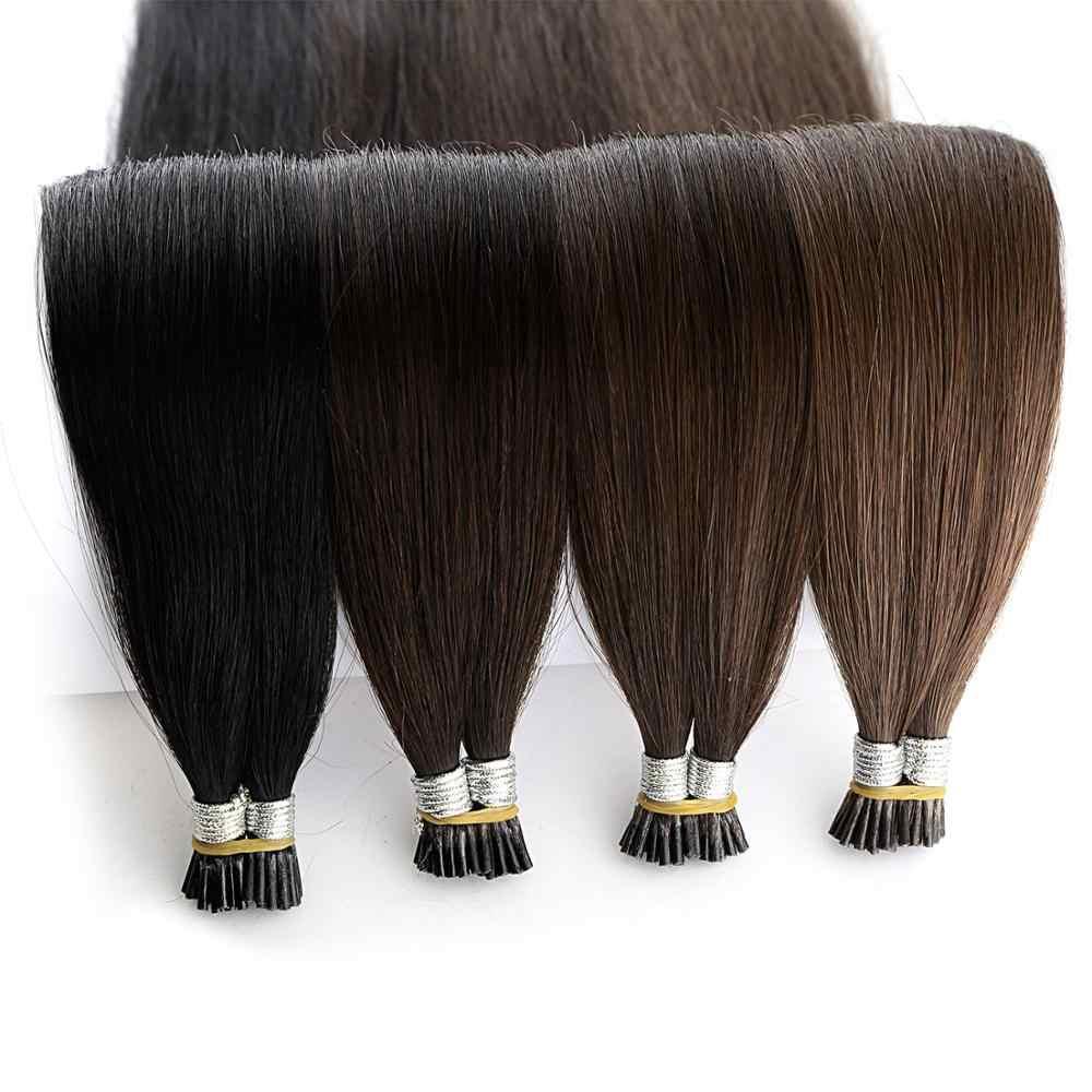 """Neitsi Double Drawn Remy I Tip Human Pre Bonded Fusion Hair Stick Tip prosto keratyna doczepy z ludzkich włosów 1.0 g/s 20 """"28"""" 25s"""