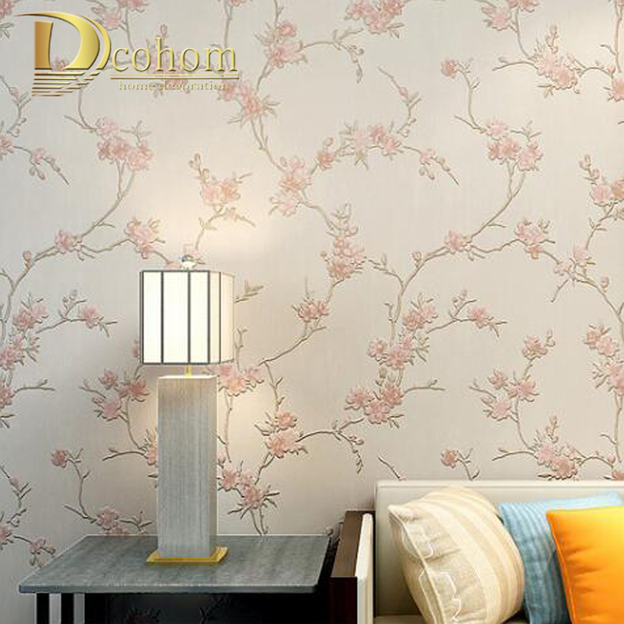 Countryside Plum Blossom Yellow Flower Wallpaper 3D Embossed Floral Wall Paper For Bedroom Living Room Wintersweet Wallcoverings серьги silver wings 221se61017u 119