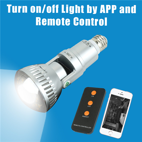 960PHD wifi lamp camera IB-18X Lamp WIFI led lighting bulb CCTV Warm yellow and white light APP control smart bulb light camera