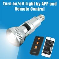 Smart Lamp Bulb Light WIFI Lighting Bulb wireless Camera Warm Yellow White Light wifi camera APP Control Camera Dropshipping