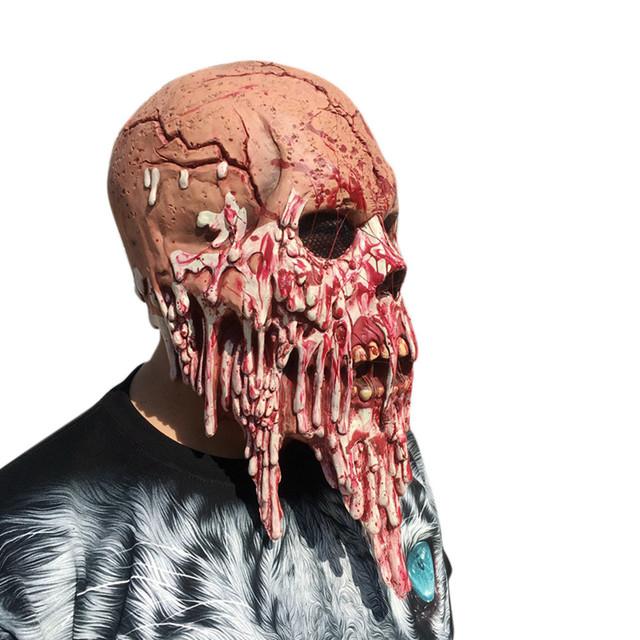 Bloody Zombie Walking Dead Latex Melting Face Mask