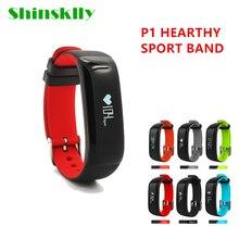 P1 Спорт SmartBand артериального давления Шагомер Смарт Браслет монитор сердечного ритма Смарт Браслет фитнес для IOS телефона Android