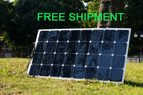 Solarparts 1PCS 100W pv flexible solar panel 12V solar cell/module/system car/marine/boat battery charger caravan camper led kit  300w solar system from china suit for car ship boat with six pcs of module 50w and mppt solar conroller