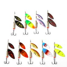 1PC 20g Hard Metal Bait Fishing Lure Spinner Spoon Lure With Hook  Double Spoon Fishing Accessories Pesca Tackle fishing bait fish lure hook twist spoon crankbaits spinner accessory tool tackle 20 12