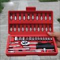 Frete grátis, 46 pcs set chave ferramenta de combinação manga auto aço conjunto de ferramentas de hardware ferramentas de reparo do carro tomada
