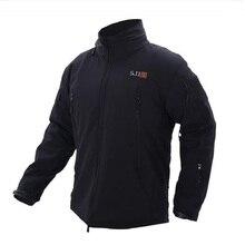 511 тактический куртка V5.0 военно-тактические Для мужчин куртка Акула кожи Soft Shell Водонепроницаемый Ветрозащитный Новая куртка-ветровка пальто