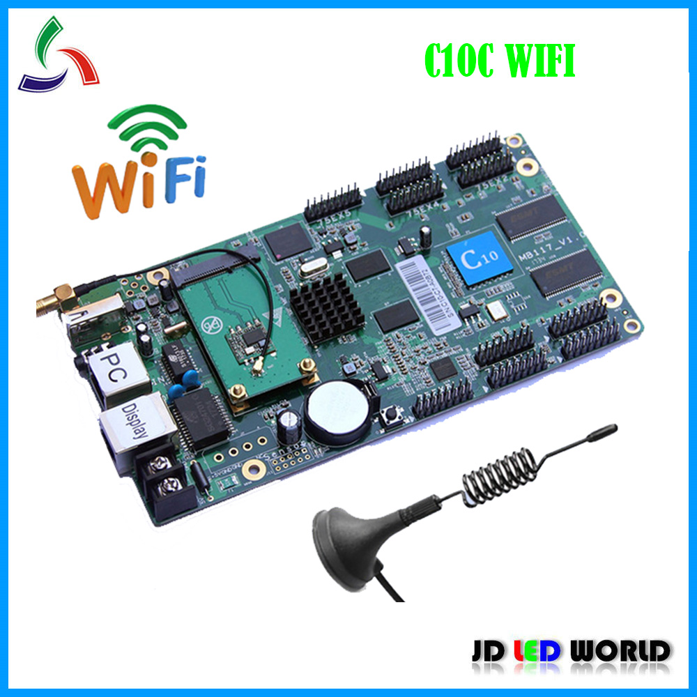 C10C HD C10C Wifi Asynchronous Indoor & Outdoor full color LED Video Display Controller card comes with 10 Groups HUB75E-in LED Displays from Electronic Components & Supplies    1