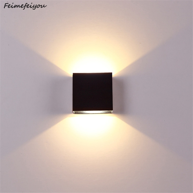 Feimefeiyou 6W dimming lampada luminaria LED Aluminium wall light rail project Square LED lamp bedside room bedroom lighting