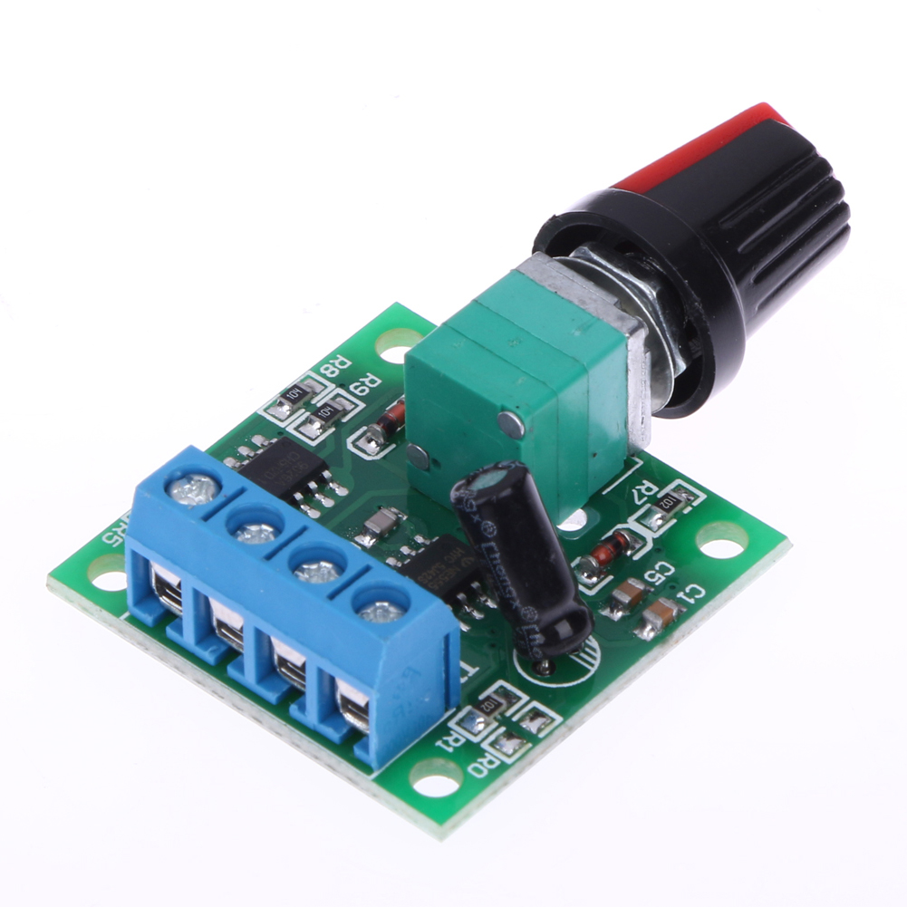 Mini dc motor speed controller adjustable pwm dc voltage for Low speed dc motor 0 5 6 volt