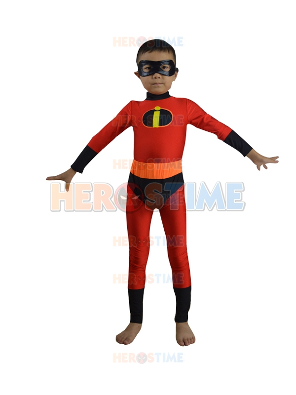The Kids Incredibles Costume  Red spandex elasticity cosplay costume kids superhero cosplay suit