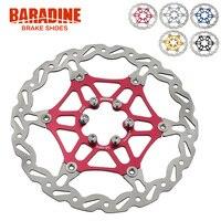 Baradine Light Weight Colorful Bike Floating Disc Brake Rotor 160mm 180mm 6 Bolt Red Blue Black