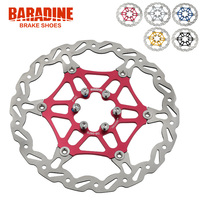 Baradine Light Weight Colorful Bike Floating Disc Brake Rotor 160mm 180mm 6 Bolt Red Blue Black