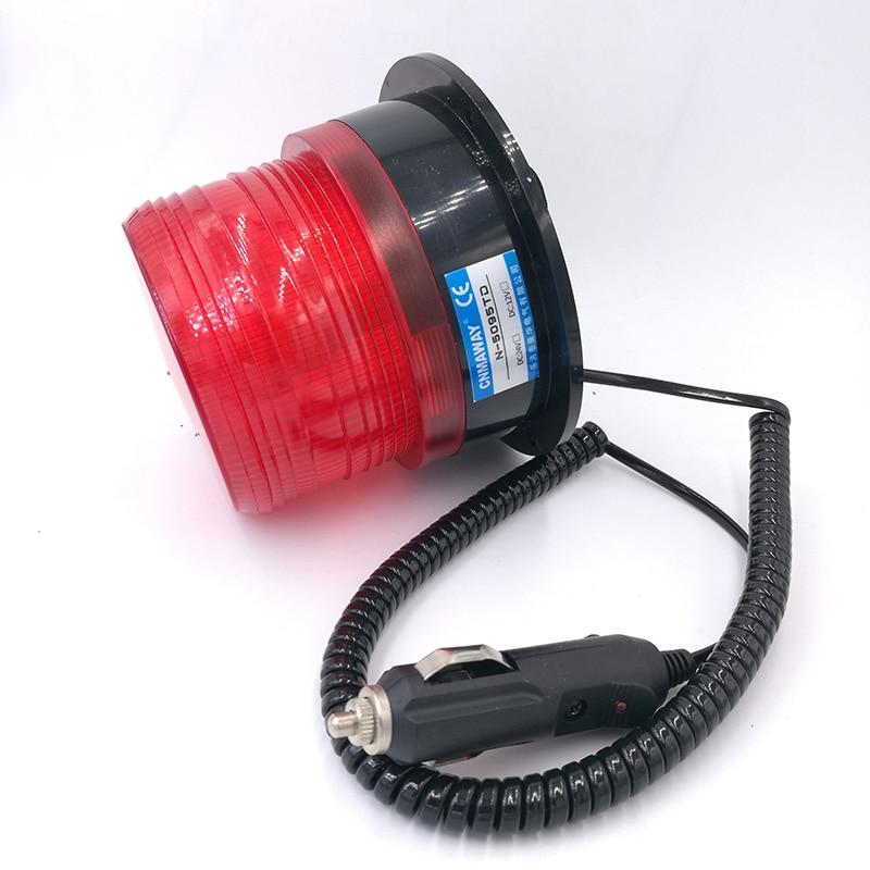 Magnetic Rolling with cigar lighter Signal Warning light 12V 24V N-5095TD Indicator light LED Flash Beacon Strobe Emergency Lamp