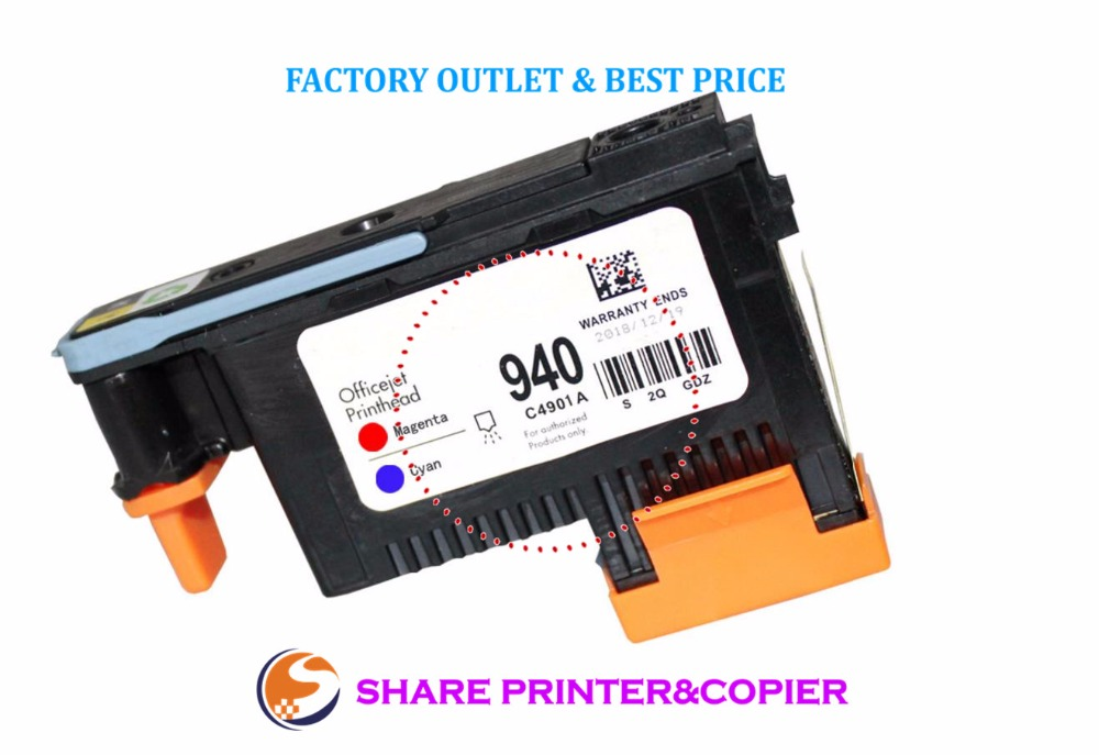 SHARE Print head Printhead C4900A C4901A for HP 940 printhead Pro 8000 A809a A809n A811a 8500 A909a A909n A909g 8500A A910a 1set x work excellently new print head for hp940 c4900a c4901a free shipping for hp 940 printhead for hp 8000 8500