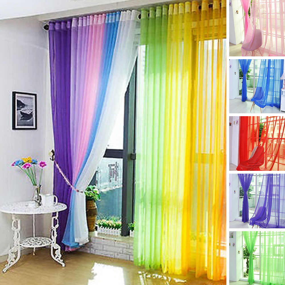 200cm x 100cm Solid Modern Style Curtains for Living Room ...