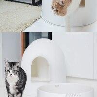 Кошки коробка для чистки туалета туалетов внутренних домашних животных кошачьих туалетов обучение животное здоровья судно Lettiera Гатто Pet чи