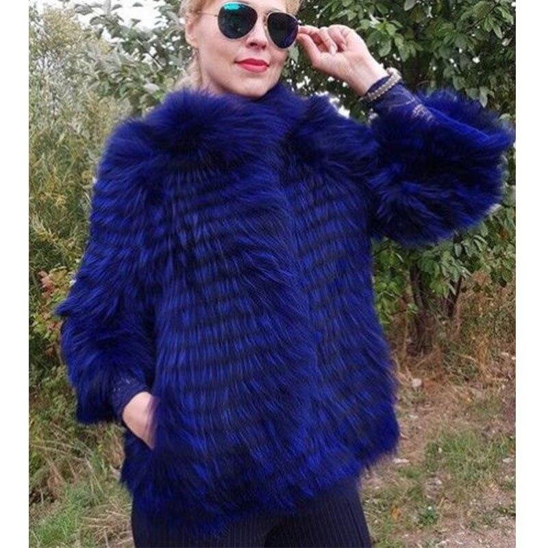 Fourrure Col Veste Renard Femmes Couleur Femelle Royal Naturel customize New Fursarcar Manteau Bleu Luxury Real De Mode 2018 Hiver Vraie Avec qpwf6f1aX