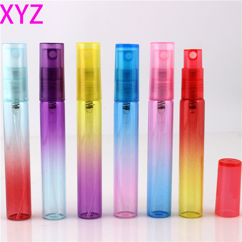 102Pieces Lot 5ML Mini Portable Colorful Glass Perfume Bottle With Atomizer Empty Cosmetic Containers For Travel