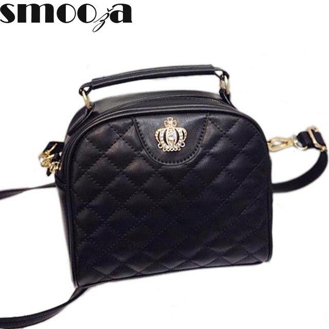 e878f1e812cb SMOOZA дизайнерский бренд императорская корона Для женщин Сумки основа  стеганые дамы сумка Для женщин Курьерские сумки